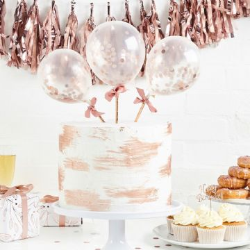 Rose Gold Mini Balloon Wands